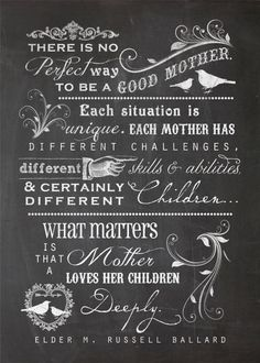 "Free ""Mothers Quote"" Chalkboard Printable:  The size is 5x7.  Download @:  http://summertimedesigns.blogspot.com/"