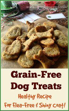 Homemade Healthy Dog Treats Recipe for flea free and shiny coat from Primally Inspired (Gluten Free)