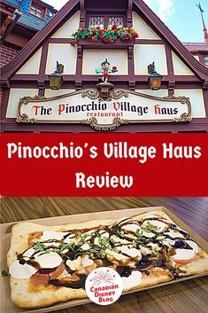Pinocchio's Village Haus is a quick service location in Magic Kingdom featuring flatbread pizzas. Find out if this dining spot is worth adding to your must-do list. Dining At Disney World, Disney World Food, Disney World Restaurants, Disney Dining Plan, Disney World Parks, Walt Disney World Vacations, Disney Resorts, Disney Worlds, Disney Planner