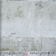 BN Eye betonlook wit l.grijs zwart - Eye behang (beton-hout) - BN (Wallcovering)…