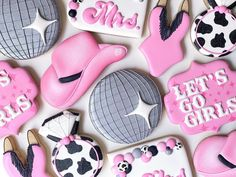 Cowgirl Bachelorette, Cookie Frosting, How To Make Cookies, Cookie Decorating, Sugar Cookies, Sparkle, Retro, Handmade, Inspiration