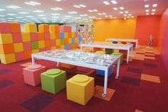 CLASSROOM FLOORS: Each class to have a mosaic with one different predominant color for each