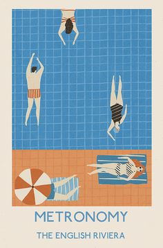 Danni's Concept I love the colors, the minimalism. The watery, summery vibe. THe summer vibe geometric, art deco style illustration vintage advertising style print graphic work.the swimmers Naomi Wilkinson. Art And Illustration, Illustration Design Graphique, Pattern Illustration, Illustrations Posters, Illustration Fashion, Character Illustration, Botanical Illustration, Watercolor Illustration, Swimming Pool Pictures
