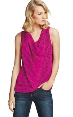 Brilliant Blouse - CAbi Fall 2014 Collection;  The drape, the color and style is another body flattering top from CAbi Fall '14