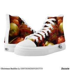 Christmas Baubles High-Top Sneakers