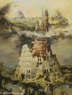 ❤️ Horst Haitzinger - Der Turmbau zu Babel 2.0 ❤️ #kunst #künstler Horst, Kunst Online, Percy Jackson, The Outsiders, Sci Fi, Amazing, Painting, Fictional Characters, Drawings