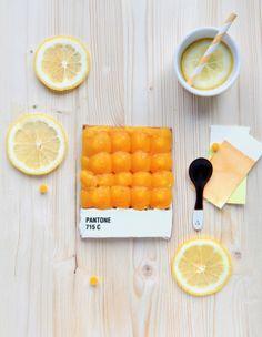 Pantone Tarts by french food designer Emilie de Griottes
