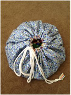 DIY toy bag tutorial great free pattern for easy storage | Sewing ...