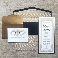 art deco wedding invitations OR Art Deco Gatsby Themed Gold and by BrownFoxCreative Art Deco Wedding Invitations, Wedding Invitation Envelopes, Beach Wedding Invitations, Gold Wedding Invitations, Vintage Wedding Invitations, Wedding Stationery, Wedding Cards, Party Invitations, Invitations Online