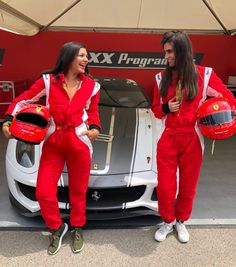 Bonnie Rakhit Goodwood festival of speed with Ferrari sports cars vip pass female racing driver suits Lara Heller Goodwood Festival Of Speed, Luxury Girl, Girls Weekend, Car And Driver, Girl Day, Race Cars, Ferrari, Leather Jacket, Suits