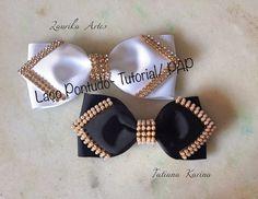 Laço Pontudo by Tatiana Karina (Lazo puntas con cinta grosgrain)