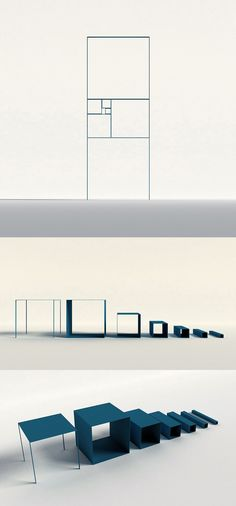 fibonacci shelf by PENG WANG