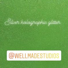 Wellmade Studios (@wellmadestudios) • Instagram photos and videos Sparkle Wall Paint, Glitter Paint Additive, Green Painted Walls, Holographic Glitter, Silver Glitter, Studios, Photo And Video, Videos, Photos