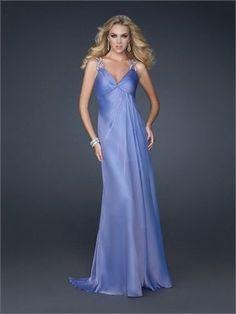 Plung V-neckline Criss-cross Back Chiffon Long Prom Dress PD11064 Sale Online