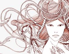 """Campaign illustration Kätlin Kaljuvee scarves"" http://be.net/gallery/33198411/Campaign-illustration-Kaetlin-Kaljuvee-scarves"