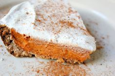 Vegan Sweet Potato Pie: No butter, eggs, milk, or cream here! This vegan sweet potato pie with whipped coconut cream tastes so creamy no one at the table will believe it's vegan.