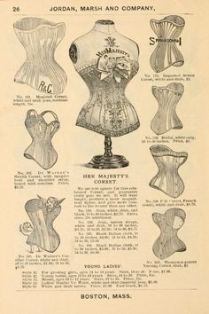 corsets : Fall and Winter 1893-94 Great link, full catalogue @ online internet library