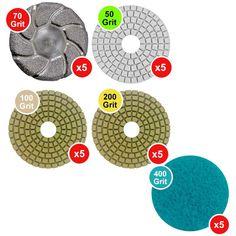 WerkMaster Scarab Concrete Countertop Polishing Tooling Package in Matte