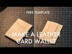 Leather Cash Strap Card Wallet - Free PDF Template - Build Along Video Tutorial | MAKESUPPLY