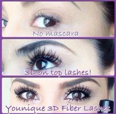 Another Amazing Before and After pic! Younique Fiber Lash Mascara builds and extend your lashes to the fullest! 3d Mascara, 3d Fiber Lashes, 3d Fiber Lash Mascara, Best Mascara, Mascara Tips, How To Apply Mascara, Applying Mascara, Younique Presenter, Fibre