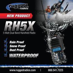Rugged Radios announces their Waterproof RH5X Handheld Radio