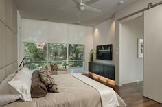 contemporary bedroom by Phil Kean Designs Contemporary Bedroom, Modern Room, Bedroom Doors, Master Bedroom, Floating Cabinets, Bedroom Photos, Bedroom Ideas, Bedroom Inspiration, Fantasy Bedroom