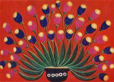 Ukrainian representative of naïve art: Maria Prymachenko - Homey Papaver (1965) / Український представник наївного мистецтва: Марія Примаченко - Домашні маки (1965)