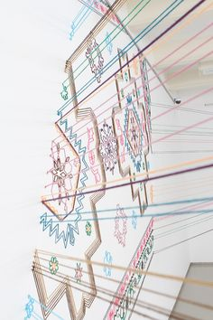 faig ahmed's thread installation embroiders space