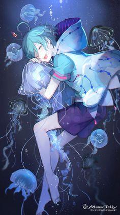 Anime art love hair New Ideas Anime Chibi, Kawaii Anime, Manga Anime, Anime Art, Kawaii Hair, Blue Hair Anime Boy, Blue Anime, Cute Anime Character, Character Art