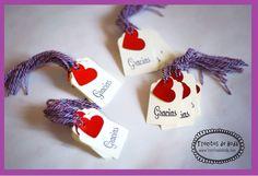 Etiquetas mini GRACIAS www.trocitosdeboda.com