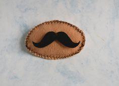 Mustache Felt Brooch  Brooch Felt  Brooch Pin  Felt by Liquidshiva, $9.90