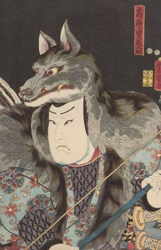 Actor Arashi Rikan 3rd.  Ukiyo-e woodblock print, 1850's, Japan, by artist      Kunisada Utagawa.
