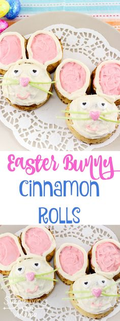 Easter Bunny Cinnamon Rolls are the perfect breakfast for Easter morning!
