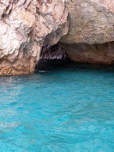 The Green Grotta in Capri, Italy