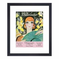Delineator, August 1928, Framed Print, 36x28cm