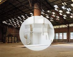 site-specifics installation by Georges Rousse