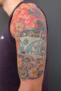VW bus arm tattoo