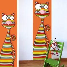 Méga minou Art Pop, Rock Crafts, Craft Stick Crafts, School Murals, Kids Room Paint, Kids Canvas, Monster Party, Porch Decorating, Altered Art