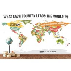 World map showing country names in their native language lite an infographic map produced by elephant journal revealed some interesting things about each country specifically in what it leads the world in gumiabroncs Gallery