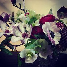 Today's #flowers  #Spring has come early #hellebore #myfavourites