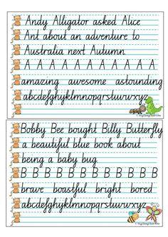 australian handwriting practice book handwriting worksheets school fonts and fonts. Black Bedroom Furniture Sets. Home Design Ideas