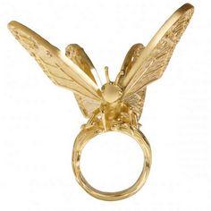 Butterfly ring by Elyssa Bass - via ringoblog.com - #rings