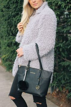 Fuzzy Grey Jacket — Lemon Blonde