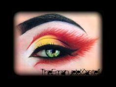 ▶ Fire's Fairy - Halloween Make Up Tutorial (inspired by KlaireDeLysArt) - YouTube