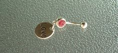 Stainless steel belly ring stainless steel by BlueBubbleCrystals