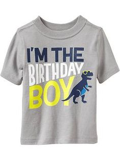 """Im the Birthday Boy"" Tees for Baby"