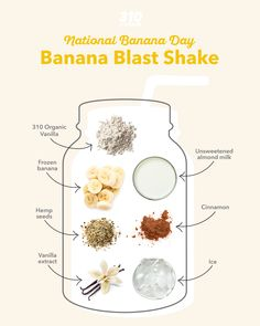 We're celebrating National Banana day early with this Banana Blast Shake that's made with whole, vegan ingredients to satisfy your sweet tooth! 310 Shake Recipes, Protein Shake Recipes, Nutritious Breakfast, Healthy Breakfast Recipes, Horchata Recipe, Chocolate Covered Bananas, Unsweetened Coconut Milk, Healthy Sweet Treats, Organic Chocolate