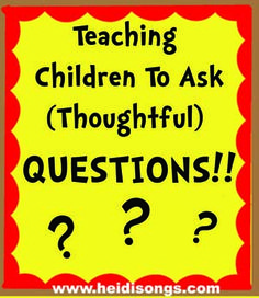 For kindergarten!  Step by step way to teach children to ask questions.