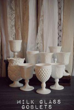 Milk Glass Goblets
