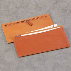 Shades Travel Wallet -   Crafted in rich, soft Italian leather in subtle color-blocked hues